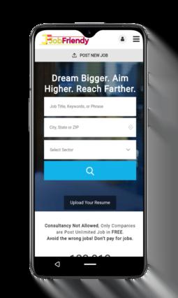 JobFriendy App Home Page